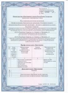 Лицензия Приложение ст.1 001