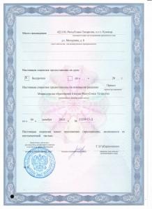 Лицензия оборот-ая сторона титула 001